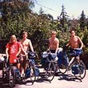 Leo Geary Trans-US bike trip start, 1984