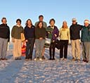 Sunrise meditators on the beach at Topsail Hill Preserve State Park for Back to Nature Festival 13. 2014-10-22
