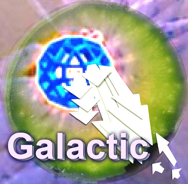 Wholeo Galactic badge. Expanded consciousness beacon at Galactic Center links.