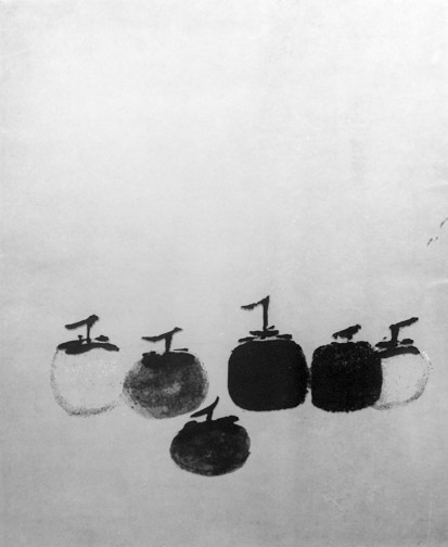 Chinese Zen Drawings i Contemplate Persimmons