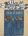 Vibe notation of color talk on cover of The New Yorker magazine, 1977