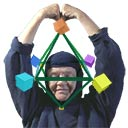 Honoring octahedron, addressing five brain cells in 'The Geometry of Expanding Mind'