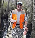 Bruce Varner, head of Choctawhatchee River Section on the last work day before opening the trail to hikers, 2016-12-28