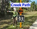 Creek Path sign locations
