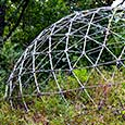 Wholeo Dome deconstructed at The Farm EcoHostel, 2017-09-13